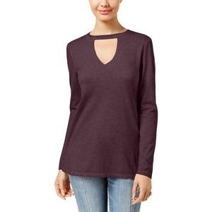 Womens Juniors Cotton Stretch Long Sleeves Choker